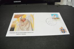 PJ1118- FDC  Roma - Posta Shqiptare 1993-visita Di S.S. Giovanni Paolo II In Albania - A Tirana - Papes