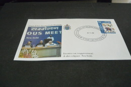 PJ1395- FDc- India  - 1999-  Visita  Di S.S. Giovanni Paolo II  In India - Incontro Con Rappresentanti Di Altre Religion - Popes