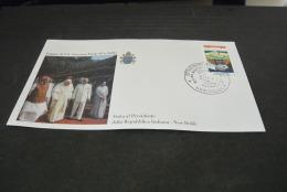 PJ1396- FDc- India  - 1999-  Visita  Di S.S. Giovanni Paolo II  In India - Pres. Della Rep. New Dehli - Delhi - Popes