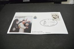 PJ1401- FDc- India   - 1999-  Visita  Di S.S. Giovanni Paolo II In India -visita Al Raj Ghat - New Dehli -Delhi - Popes