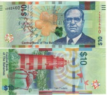 BAHAMAS New  10  Dollar     P78  (serie  2016)   UNC - Bahamas