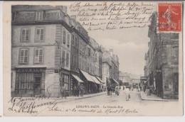 LONGWY HAUT : GRANDE RUE - CAFE DES ARTS - ECRITE 1908 - 2 SCANS - - Longwy