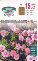 TARJETA DE JORDANIA DE 15JD DE UNAS FLORES DE FECHA 9/98 Y TIRADA 30000 (FLOR-FLOWER) - Jordania