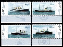 Germany 2010 Bundesrepublik Deutschland Mi 2809-2812 Historic Steamers / Historische Schnelldampfer **/MNH - Boten