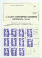 France.Marianne De Briat   Sur Ordre De Reexpédition De Fontenay Sur Loing (Seine Et Marne) - France