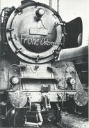 Dampflokomotive Baureihe 01-095 Im Bahnbetriebswerk Wiesbaden (1960) - Frohe Ostern-Aufschrift