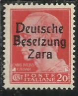ZARA OCCUPAZIONE TEDESCA 1943 C.20 MNH - Occup. Tedesca: Zara