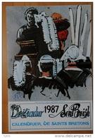 Calendrier De Saints Bretons Illustré Par Mathurin Meheut  Année 1987 - Grand Format : 1991-00