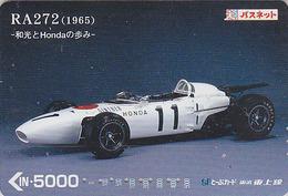 RARE Carte Prépayée Japon - VIEILLE VOITURE De Sport - HONDA - OLDTIMER RACING CAR Japan Prepaid Bus Card - Tobu 3061 - Automobili