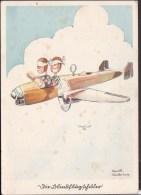 "Fliegerhumor "" Die Blindflugschüler "" Feldpost 1942  Stempel Göppingen - Briefe U. Dokumente"