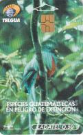 GUATEMALA - Animals Of Guatemala/Quetzal, Chip GEM3.1, Used - Guatemala