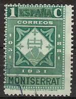 España U 0636 (o) Montserrat. 1931 - 1931-Hoy: 2ª República - ... Juan Carlos I