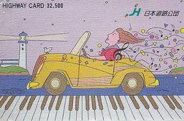 Carte Prépayée Japon - VIEILLE VOITURE PHARE / Dessin Comics - OLDTIMER CAR Japan Prepaid Card - AUTO - HW 3083 - Phares
