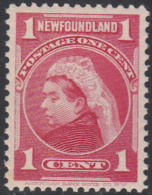 NEWFOUNDLAND     SCOTT NO.  79     MINT HINGED      YEAR  1897 - Newfoundland