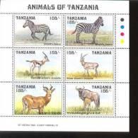 TANZANIA   1227  MINT NEVER HINGED MINI SHEET OF WILDLIFE & ANIMALS   # M-1229-1  ( - Postzegels