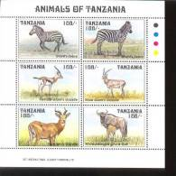 TANZANIA   1227  MINT NEVER HINGED MINI SHEET OF WILDLIFE & ANIMALS   # M-1229-1  ( - Timbres