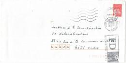 FRANCIA - France - 2000 - Marianne De Luquet Rouge + FD, Fausse Direction Roubaix - Seul - Viaggiata Da Asnières-sur-... - Francia