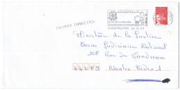 FRANCIA - France - 2000 - Marianne De Luquet Rouge + Flamme + FD, Fausse Direction - Seul - Viaggiata Da Ramberviller... - Francia