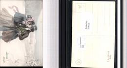 529652,Künstler AK J. Streyc Frau Mann Mode Schirm Bonne Annee Pub V.K. Vienne 5000/a - Mode