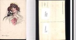529620,Künstler AK Mauzan Glamour Mode Hutmode Affe Jugendstil Art Nouveau Hut - Mode