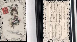 529201,Spitzen Verzierte AK Präge AK Kind Rosen Blumen - Ansichtskarten