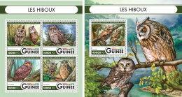 GUINEA REP. 2016 ** Owls Eulen Hiboux M/S+S/S - OFFICIAL ISSUE - A1644 - Eulenvögel