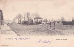 Soignies, Square De La Gare,  2 Scans - Soignies