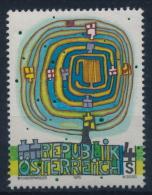 **Österreich Austria 1975 ANK 1524 Mi 1505 (1) Modern Art Friedensreich Hundertwasser Painter MNH - 1971-80 Unused Stamps