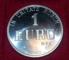 1 EURO ARGENTO 800/1000 PRECURSORE EURO MFE BOLOGNA 1965 IN UNITATE ROBUR - EURO