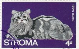 Gran Bretagna Emissioni Locali -  Stroma 1969 -  4d Used  Animali Gatto - Emissione Locali