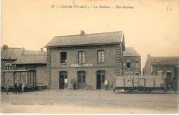 62 LIEVIN Intérieur De La Gare La Station N'a Pas Circulé - Lievin