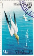 Gran Bretagna Emissioni Locali -  St. Kilda -  9d  Used   Uccelli  Gannets - Local Issues
