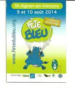 Magnet Fête Du Bleu 2014 St Aignan En Vercors - Humour