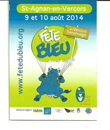 Magnet Fête Du Bleu 2014 St Aignan En Vercors - Humoristiques