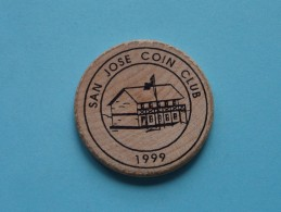 SAN JOSE COIN CLUB 1999 - 1504 Minnesota Ave CA 95150 ( Wood ) Meets 2nd Wednesday Of Each Month ( Please See Photo ) !! - Other