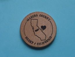 MADERA COUNTY - DIAMOND JUBILEE 1893 - 1968 California ( Wood ) ( Please See Photo ) !! - Otros