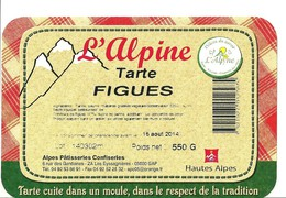 Etiquette Tarte Alpine Figues - Fruits & Vegetables