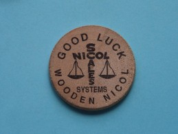 GOOD LUCK NICOL SCALES Systems DALLAS 214-428-8181 Service 24 Hrs. ( Wood ) ( Please See Photo ) !! - Other