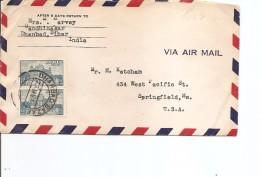 Inde ( Lettre Par Avion De 1952 De DhanbadBazaf Vers Les USA à Voir) - Covers & Documents