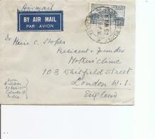 Inde ( Lettre Par Avion De 1952 De Calcutta Vers La Grande-Bretagne à Voir) - Covers & Documents