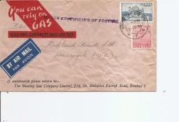 Inde ( Lettre Publicitaire Par Avion De 1955 Vers La Grande-Bretagne à Voir) - Covers & Documents