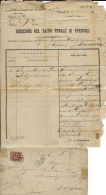 REGNO FRANCOBOLLO DI STATO 0,20 CENT 1876 POZZUOLI X MARSALA BAGNO PENALE - Marcophilia