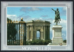 MONTPELLIER - Jardins Du Peyrou, Statue De Louis XIV - Non Circulé - Not Circulated  - Nicht Gelaufen. - Montpellier