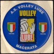 AUTOCOLLANT - VOLLEYBALL - ITALIA - A.S. VOLLEY LUBE MACERATA - ROUND RUBBER STICKER - Sport