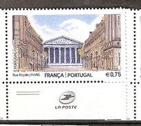 Portugal ** &  Joint Edition France, Rue Royale, Paris 2016 (7435Pub) - Architecture