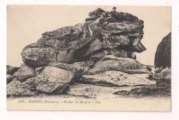 - 29 - SANTEC : Rocher Du Renard - Promeneur Au Sommet - - France