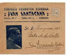 Carta De Publicidad Compañia Dramatica Española Juan Santacana. - 1931-50 Cartas