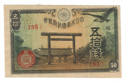 Japan, 50 Sen , XF . Free Economic Ship. To USA - Japón