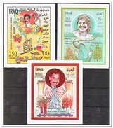 Irak 1997, Postfris MNH, Flowers, Saddam Hussein - Irak