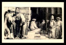 'JUDAISME - LA SYNAGOGUE - EAU-FORTE DE REMBRANDT  - MUSEE DU LOUVRE - COLLECTION D''ESTAMPES EDMOND DE ROTHSCHILD' - Giudaismo